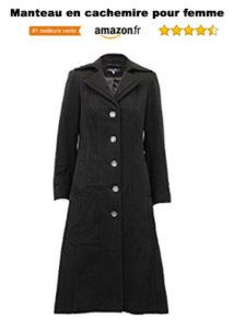 Manteau long femme en cachemire